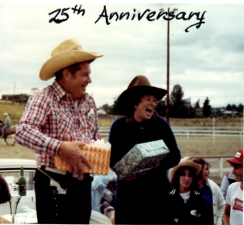 Sally and Darrell at the 25th Anniversary